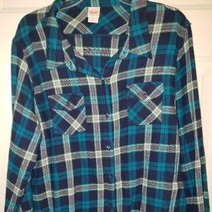 Mossimo Plaid Flannel Button up shirt, Sz 2(2X)
